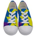Colorful Red Yellow Blue Purple Kids  Low Top Canvas Sneakers View1