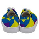 Colorful Red Yellow Blue Purple Kids  Low Top Canvas Sneakers View4