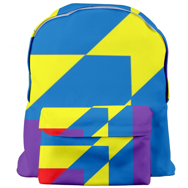 Colorful Red Yellow Blue Purple Giant Full Print Backpack