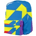 Colorful Red Yellow Blue Purple Giant Full Print Backpack View4