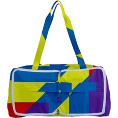Colorful Red Yellow Blue Purple Multi Function Bag by Sapixe