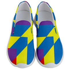 Colorful Red Yellow Blue Purple Men s Lightweight Slip Ons