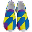 Colorful Red Yellow Blue Purple Men s Lightweight Slip Ons View1