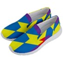 Colorful Red Yellow Blue Purple Men s Lightweight Slip Ons View2
