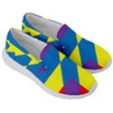 Colorful Red Yellow Blue Purple Men s Lightweight Slip Ons View3