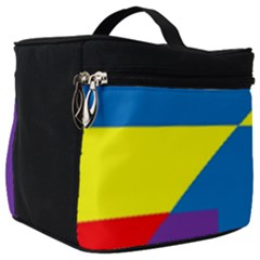 Colorful Red Yellow Blue Purple Make Up Travel Bag (big)