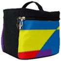 Colorful Red Yellow Blue Purple Make Up Travel Bag (Big) View1