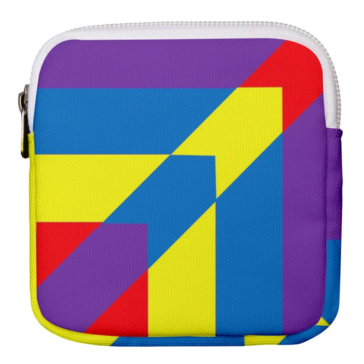 Colorful Red Yellow Blue Purple Mini Square Pouch
