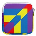 Colorful Red Yellow Blue Purple Mini Square Pouch View2