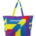 Colorful Red Yellow Blue Purple Simple Shoulder Bag View3