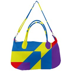 Colorful Red Yellow Blue Purple Removal Strap Handbag