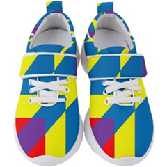 Colorful Red Yellow Blue Purple Kids  Velcro Strap Shoes