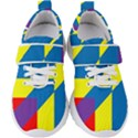 Colorful Red Yellow Blue Purple Kids  Velcro Strap Shoes View1
