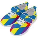 Colorful Red Yellow Blue Purple Kids  Velcro Strap Shoes View2