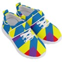 Colorful Red Yellow Blue Purple Kids  Velcro Strap Shoes View3
