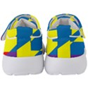 Colorful Red Yellow Blue Purple Kids  Velcro Strap Shoes View4