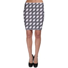 Pattern Monochrome Repeat Bodycon Skirt by Sapixe