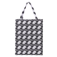 Pattern Monochrome Repeat Classic Tote Bag