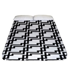 Pattern Monochrome Repeat Fitted Sheet (king Size)