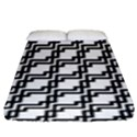 Pattern Monochrome Repeat Fitted Sheet (King Size) View1