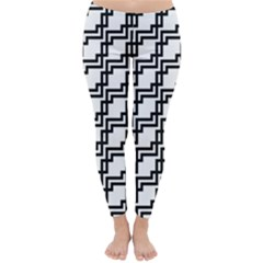 Pattern Monochrome Repeat Classic Winter Leggings by Sapixe