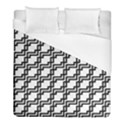 Pattern Monochrome Repeat Duvet Cover (Full/ Double Size) View1