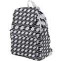 Pattern Monochrome Repeat Top Flap Backpack View1
