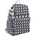 Pattern Monochrome Repeat Top Flap Backpack View2