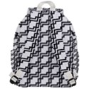 Pattern Monochrome Repeat Top Flap Backpack View3