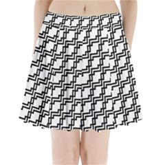 Pattern Monochrome Repeat Pleated Mini Skirt by Sapixe