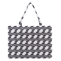 Pattern Monochrome Repeat Medium Tote Bag