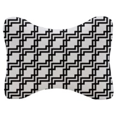 Pattern Monochrome Repeat Velour Seat Head Rest Cushion