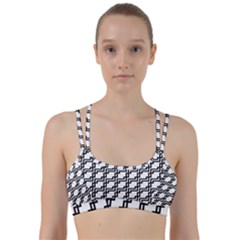 Pattern Monochrome Repeat Line Them Up Sports Bra