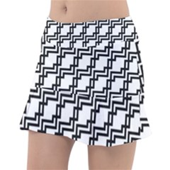 Pattern Monochrome Repeat Tennis Skirt by Sapixe