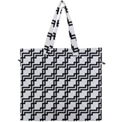 Pattern Monochrome Repeat Canvas Travel Bag