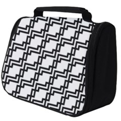 Pattern Monochrome Repeat Full Print Travel Pouch (big)