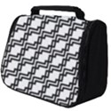 Pattern Monochrome Repeat Full Print Travel Pouch (Big) View1