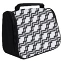 Pattern Monochrome Repeat Full Print Travel Pouch (Big) View2
