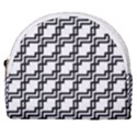 Pattern Monochrome Repeat Horseshoe Style Canvas Pouch View1