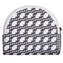 Pattern Monochrome Repeat Horseshoe Style Canvas Pouch View2
