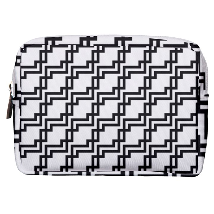 Pattern Monochrome Repeat Make Up Pouch (Medium)