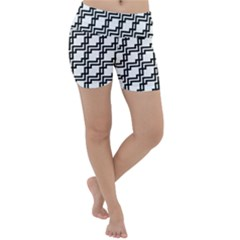 Pattern Monochrome Repeat Lightweight Velour Yoga Shorts