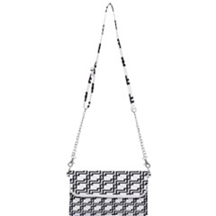 Pattern Monochrome Repeat Mini Crossbody Handbag