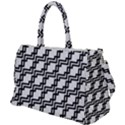 Pattern Monochrome Repeat Duffel Travel Bag View1