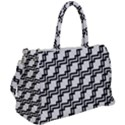 Pattern Monochrome Repeat Duffel Travel Bag View2
