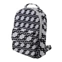 Pattern Monochrome Repeat Flap Pocket Backpack (Large) View1