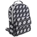 Pattern Monochrome Repeat Flap Pocket Backpack (Large) View2