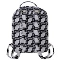 Pattern Monochrome Repeat Flap Pocket Backpack (Large) View3