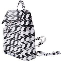 Pattern Monochrome Repeat Buckle Everyday Backpack