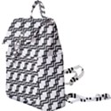 Pattern Monochrome Repeat Buckle Everyday Backpack View1